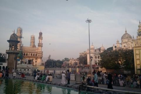 Chegamos até Hyderabad, na Índia.