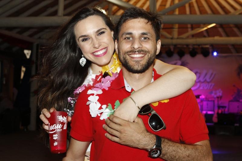 Sara Bobadra e Bruno Pasinato no clima da festa