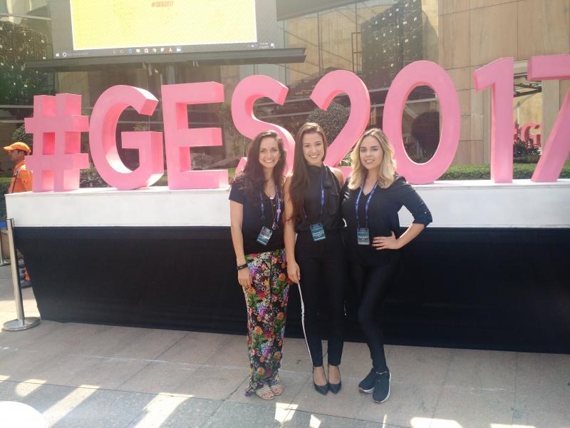 Lygia, Roberta e Maytê levaram seus negócios à Global Entrepeneuship Summit, que ocorreu entre 28 e 30 de novembro