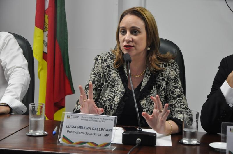 Lúcia Helena Callegari, promotora de Justiça do Ministério Público do Estado