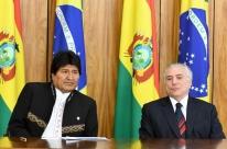 Michel Temer recebe Evo Morales para discutir renovação de compra do gás natural