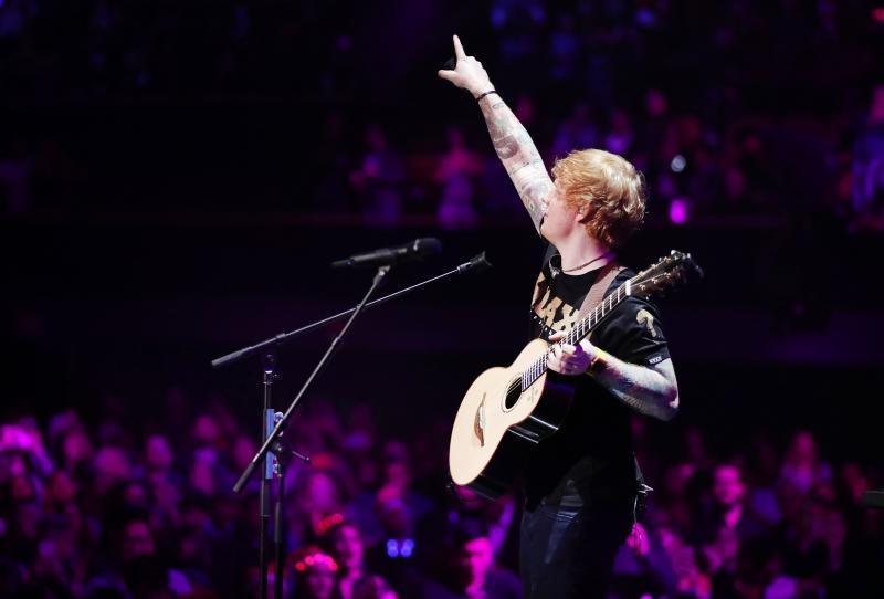 Ed Sheeran teve 6,3 milhões de reproduções de suas músicas no Spotfy