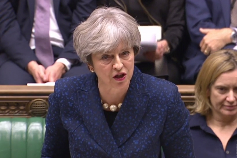 Comentários da primeira-ministra devem agradar políticos pró-Brexit dentro do Partido Conservador