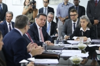 Cármen Lúcia e Perillo discutem crise prisional em Goiás