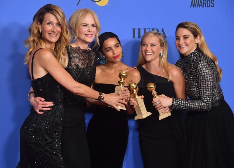 Elenco de Big little lies comemora vitória no Globo de Ouro