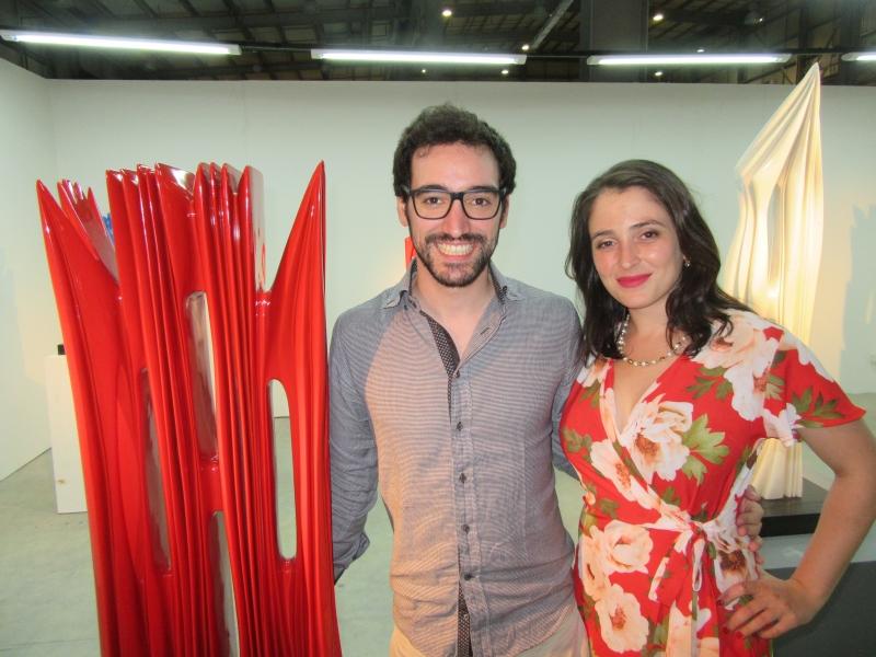 Piero Atchugarry, diretor da Fundação Pablo Atchugarry e Anne Cecile Surga na Este Arte