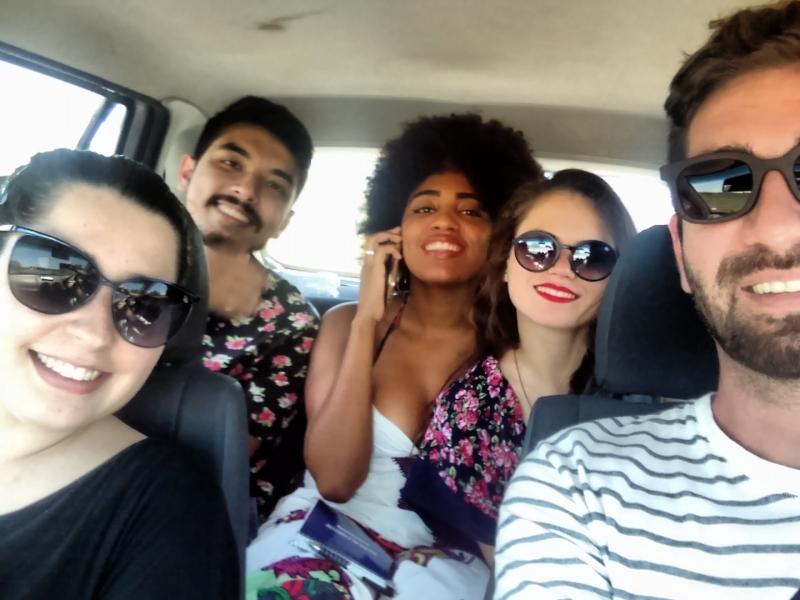 Equipe do GeraçãoE na produção de conteúdo de verão