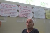 Manifestante faz greve de fome em defesa do ex-presidente