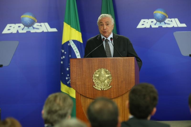"""Temer destacou ainda que a redução da Selic é uma """"ótima notícia para o Brasil"""""""