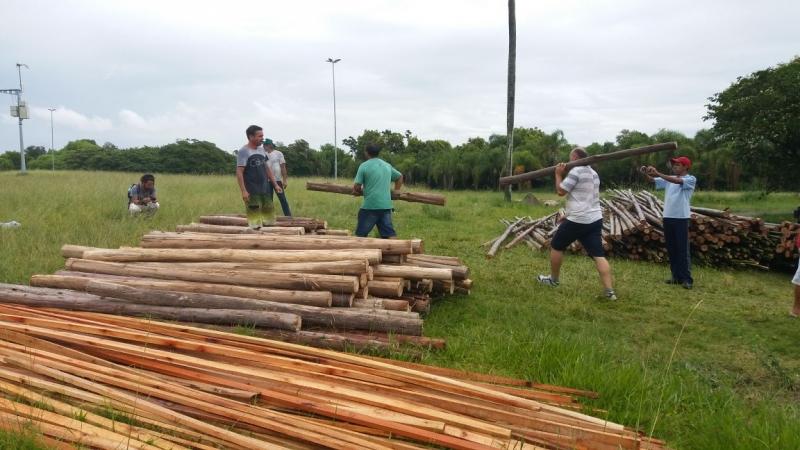 MST já iniciou montagem de acampamento no Anfiteatro Pôr-do-Sol