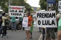Protesto convocado pelo Vem Pra Rua reuniu 200 manifestantes no Parcão
