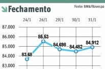 Bolsa sobe 11,14%, e dólar cai 3,76% no mês de janeiro