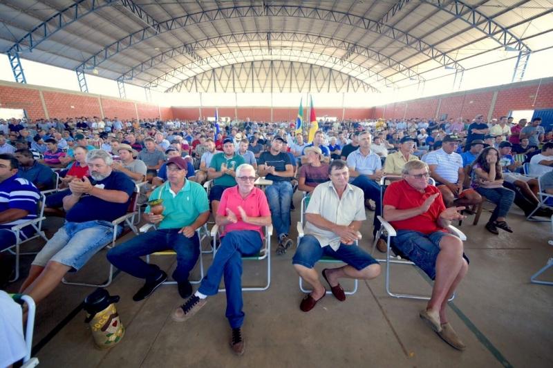 Ato realizado em Restinga Seca reuniu cerca de 1,6 mil participantes