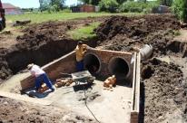 Secretaria de Infraestrutura e Serviços Urbanos instalou tubulações de 1,2 metro de diâmetro nos trechos em obras