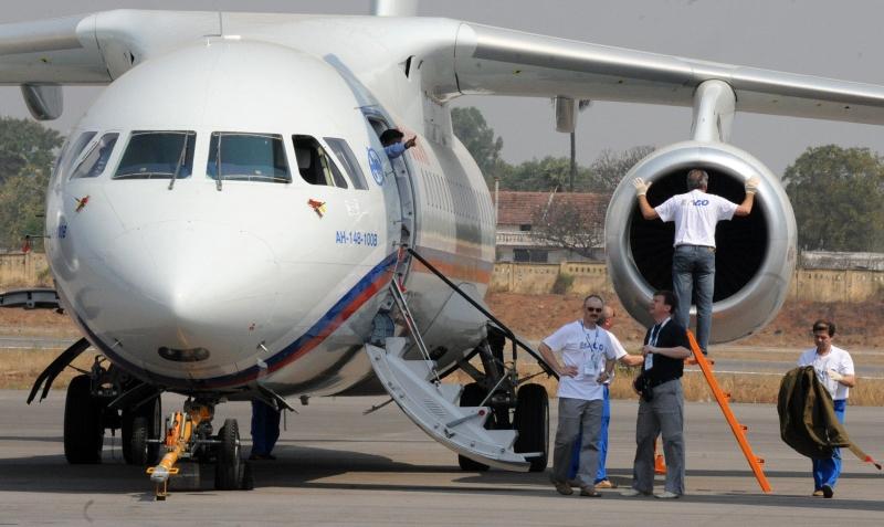 Foto de arquivo mostra uma aeronave Antonov An-148, do mesmo modelo do avião desaparecido da Saratov Airlines