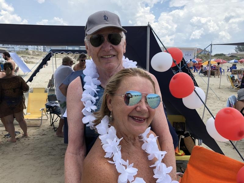 Carlos Alberto e Diana Pippi da Motta na comemoração