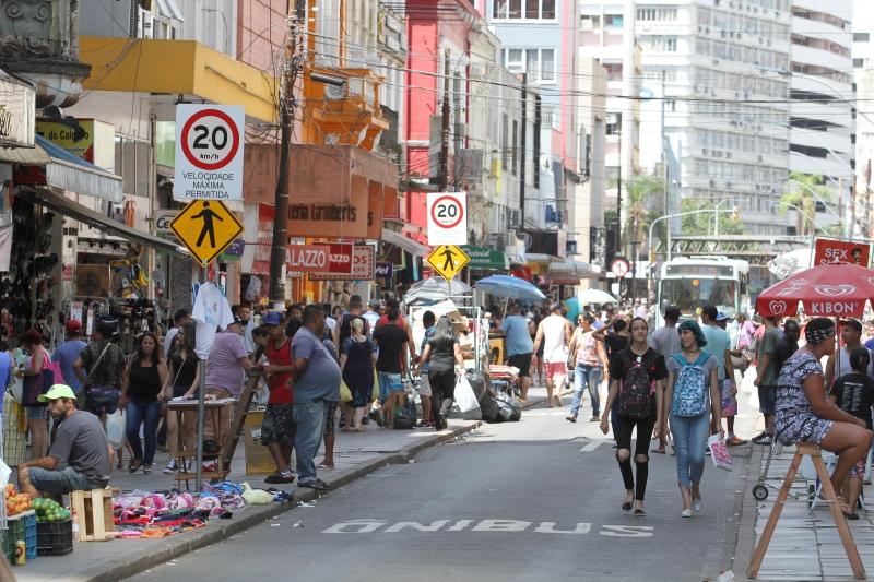 Área no Centro concentra boa parte do comércio varejista da Capital