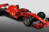 Ferrari apresenta carro quase todo vermelho para temporada de 2018