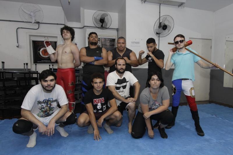 Grupo de SWU (South Wrestling Union) em Porto Alegre