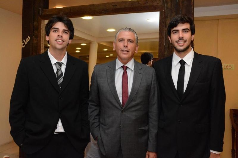 Ramon, Sylvio e Thomaz Ballverdu, sócios na empresa