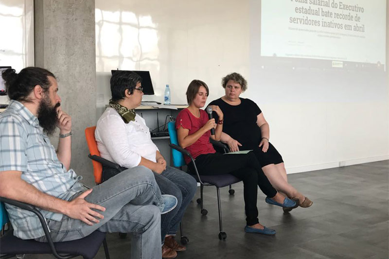 Luciana Mielniczuk (à direita) foi uma das moderadoras, no último final de semana, de debate sobre dados abertos