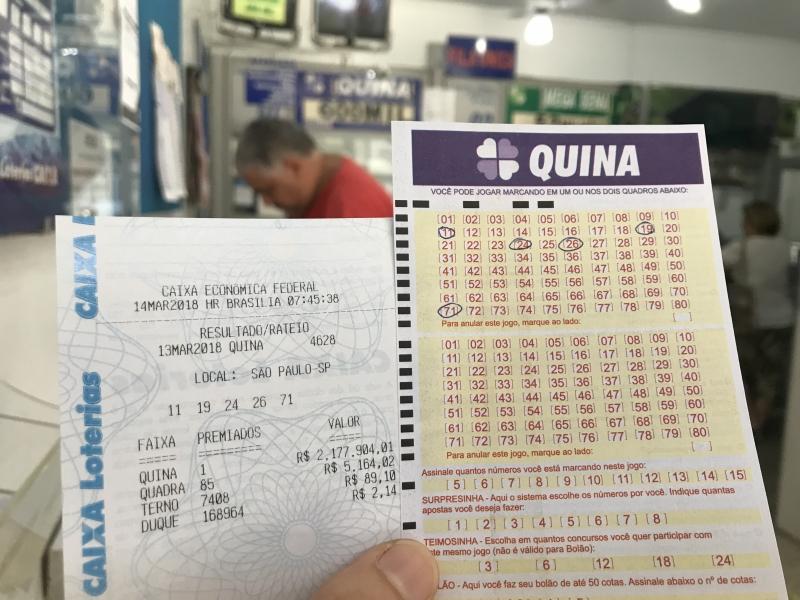 Apostador de Porto Alegre ganha sozinho Quina de R$ 2 milhões
