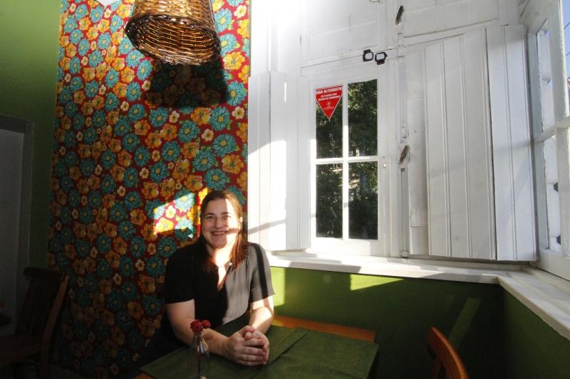 Restaurante Baru. na foto: Maia Lebedeff, proprietária