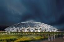 Estádio da copa na Russia está atrasado e preocupa Fifa