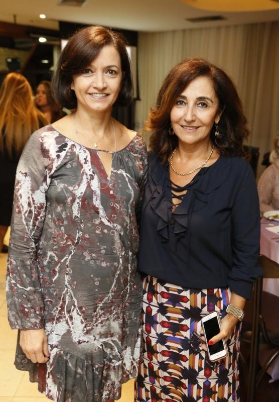 Elise Longo e Eliana Godoy no jantar da Confraria