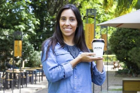 Karine Camejo, sócia do Valkiria Café