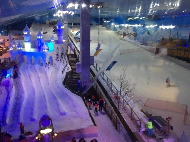 Parque temático oferece várias atrações na neve artificial