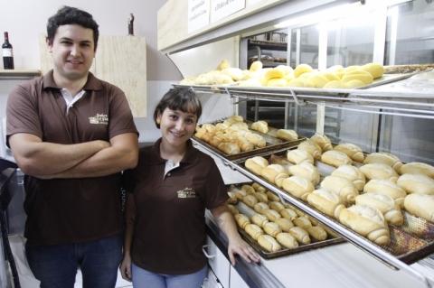 Rodrigo e Bruna aplicaram suas ideias na padaria da família