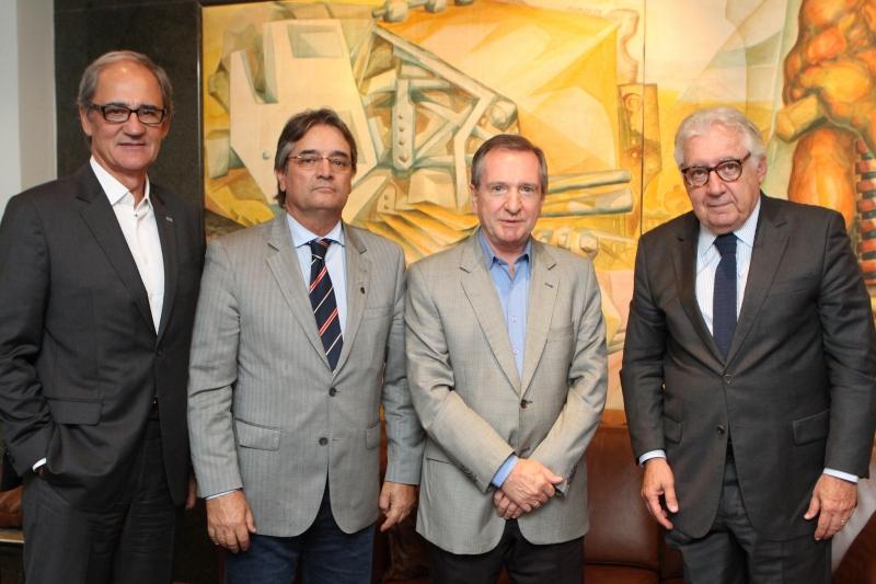 Mércio Tumelero recebeu Fialho, Gedeão e Afif no Jornal do Comécio