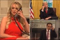 Atriz pornô que teve suposto caso com Trump faz participação no Saturday Night Live