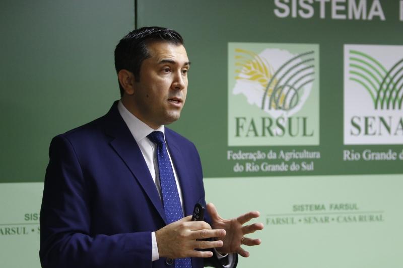 O Sistema Farsul apresenta estudo do impacto da safra na economia gaúcha. Na foto: Antônio da Luz