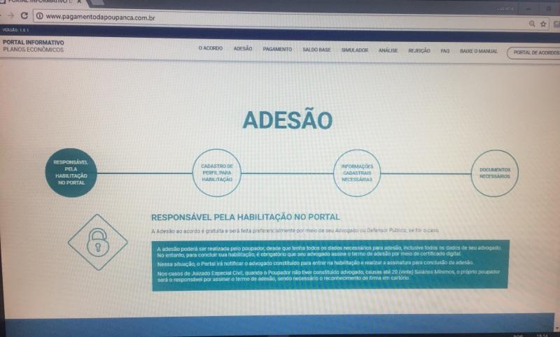 Site permite a apresentação de documentos comprobatórios