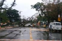 Temporal causa estragos no interior do Rio Grande do Sul