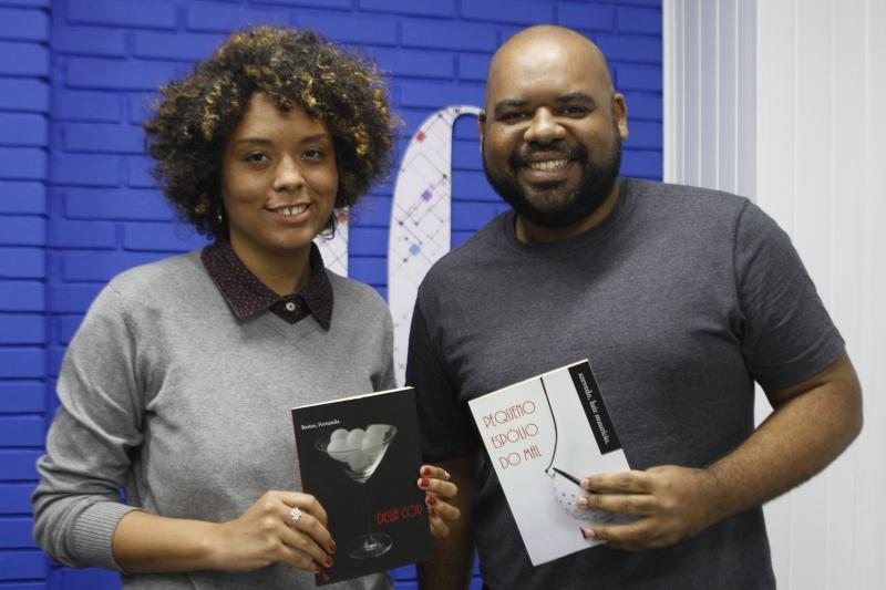 Visita de Fernanda Bastos e Luiz Maurício Azevedo da Editora Figura de Linguagem.