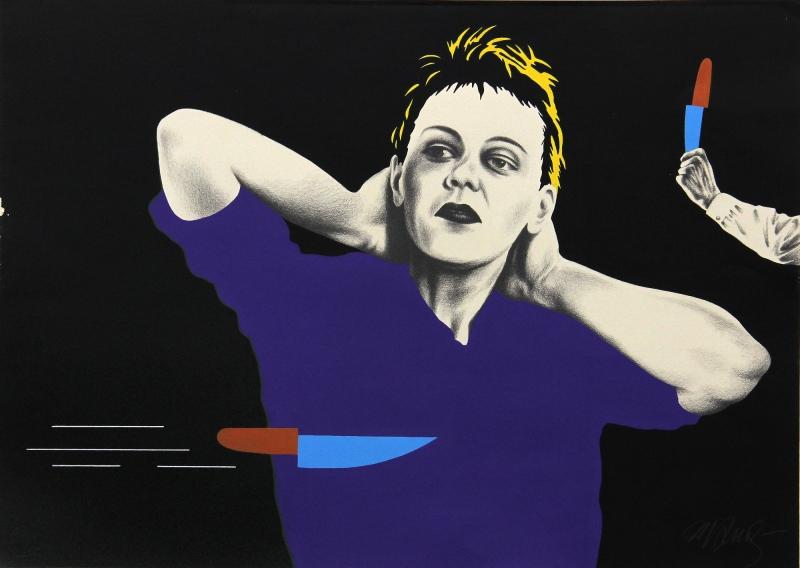 Obra Atirador de facas, de Milton Kurtz, é uma das exibidas na mostra