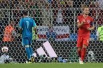 Colômbia empata no fim, mas Inglaterra vence nos pênaltis e vai às quartas