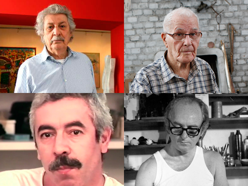 Glênio Bianchetti, Danúbio Gonçalves, Glauco Rodrigues e Carlos Scliar formaram o Grupo de Bagé