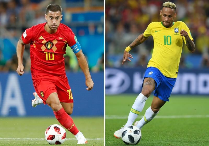 Na disputa dos camisas 10, Hazard medirá forças com Neymar