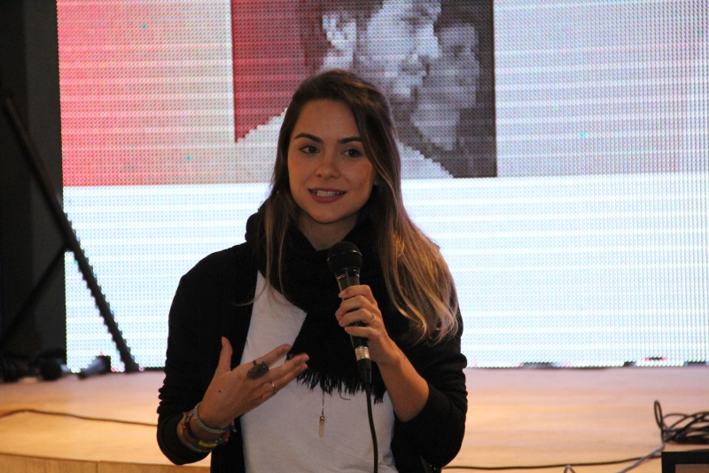 Tati Fukamati participou do evento Afternow, na Capital
