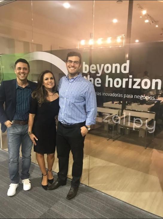 Lisiane Breyer, Marcelo Castro e  William Ayres, da Zallpy Group