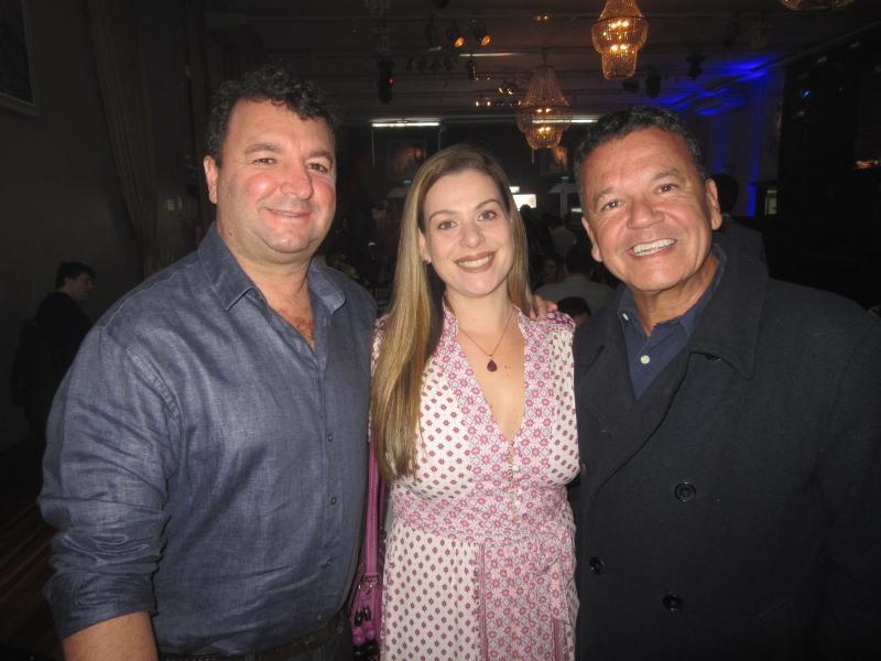 Arnaldo Rodrigues e Liziane Buaes com Pedro Carneiro da Fontoura na Feijoada Austral