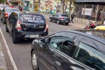Motoristas de aplicativos protestam após morte de colega na Região Metropolitana