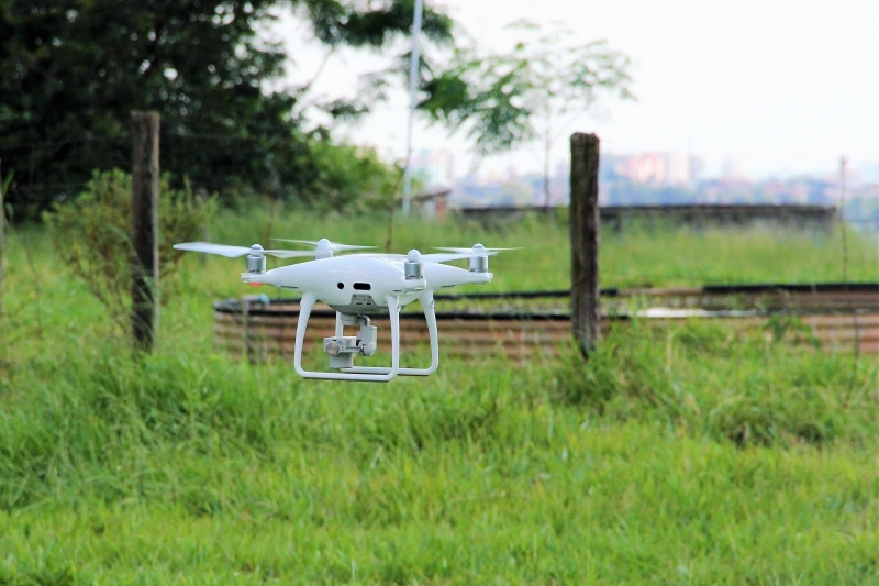 Drones fornecerão dados apurados sobre as lavouras pesquisadas