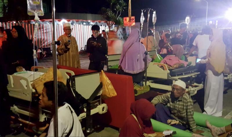 Após novo tremor, hospital em Lombok precisou ser evacuado, para segurança dos pacientes