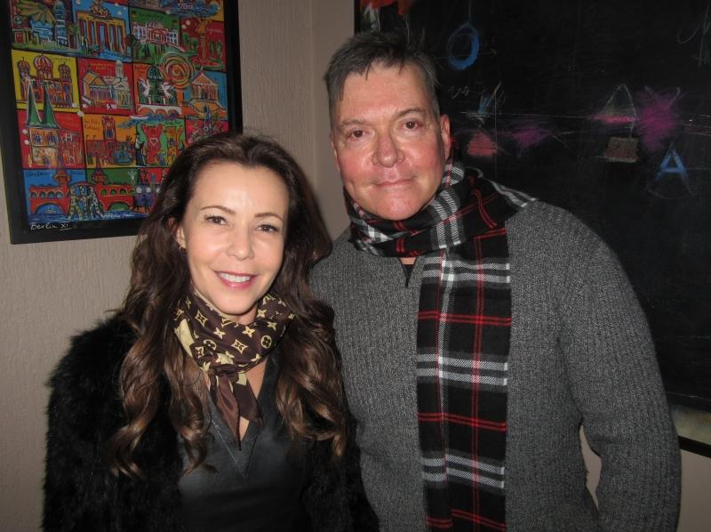 Simone Moretto comemorou seu aniversário  com Mauro Lunardi em jantar no Tartare