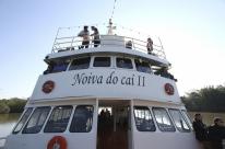 Embarcações também são opção para curtir o Réveillon na Orla do Guaíba